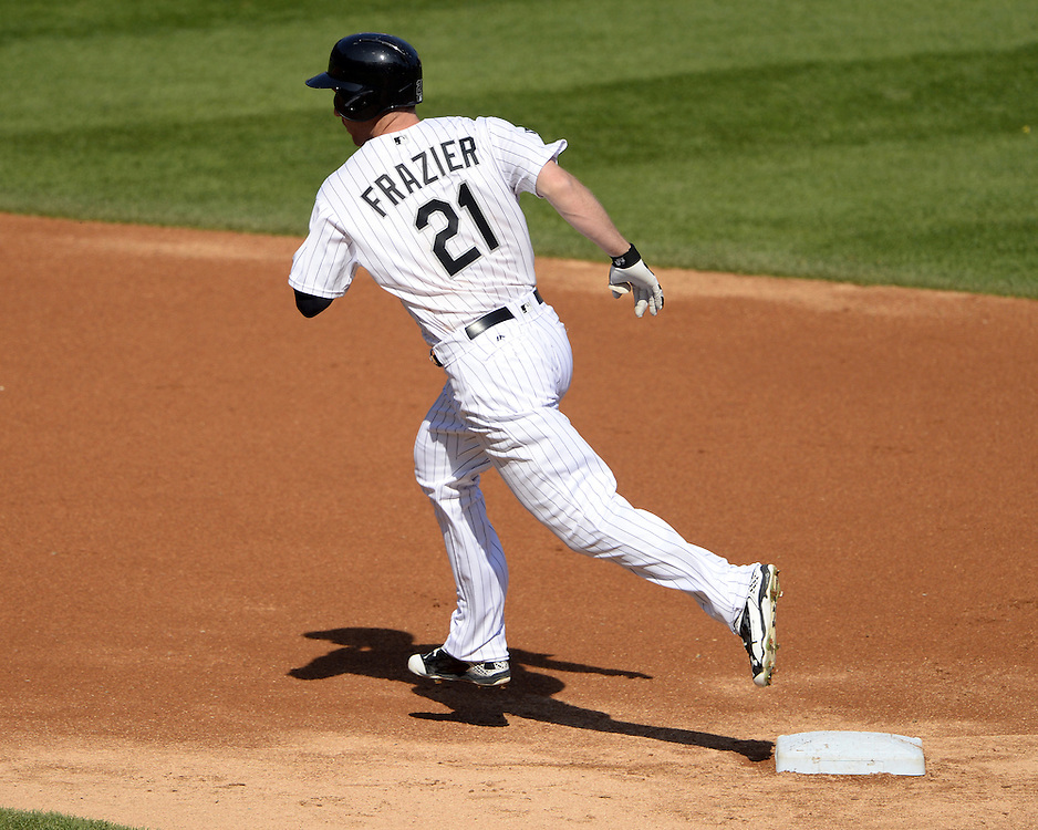 CHICAGO - MAY 23:  Todd Frazier #21 of the Chicago White Sox runs the bases after hitting a home run in the first inning against the Cleveland Indians during game one of a double header on May 23, 2016 at U.S. Cellular Field in Chicago, Illinois.  The White Sox defeated the Indians 7-6.  (Photo by Ron Vesely)   Subject:   Todd Frazier