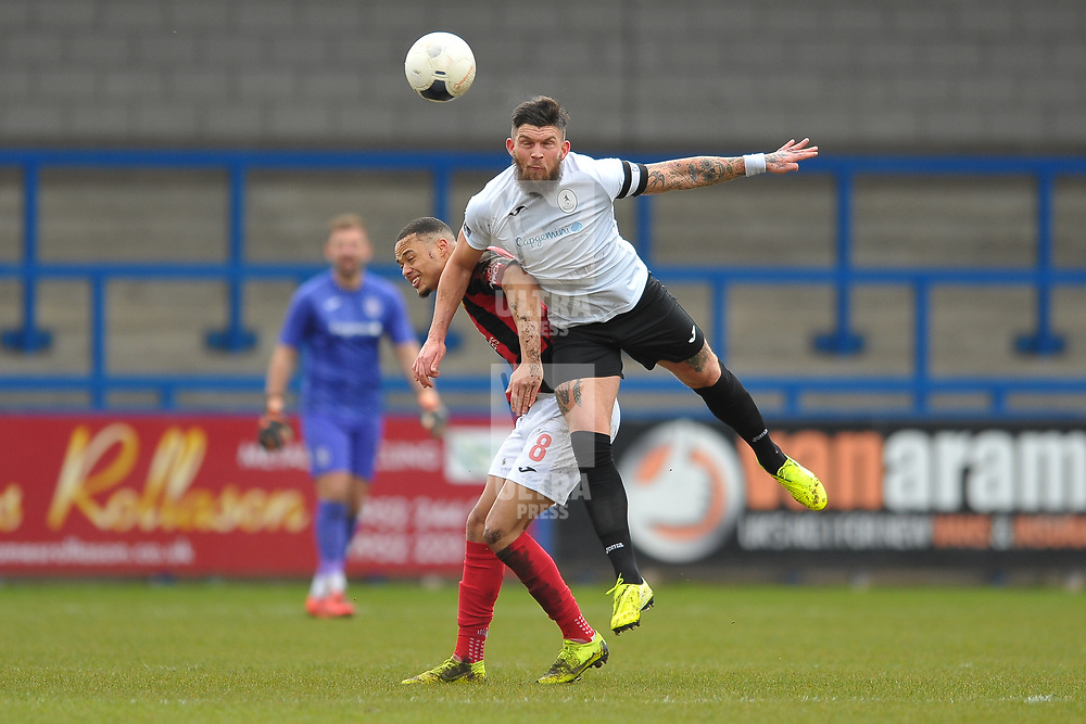 TELFORD COPYRIGHT MIKE SHERIDAN  Shane Sutton of Telford during the Vanarama Conference North fixture between AFC Telford United and Kettering at The New Bucks Head on Saturday, March 14, 2020.<br /> <br /> Picture credit: Mike Sheridan/Ultrapress<br /> <br /> MS201920-050