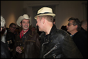 ROBERT GORDON MAHARG; PAUL SIMONON, Private view, Paul Simonon- Wot no Bike, ICA Nash and Brandon Rooms, London. 20 January 2015
