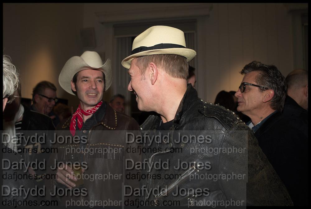 ROBERT GORDON MAHARG; PAUL SIMONON, Private view, Paul Simonon- Wot no Bike, ICA Nash and Brandon Rooms, London. 20 January 2015