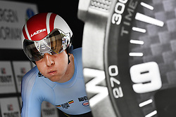 September 19, 2017 - Bergen, Norway - Belgian ILAN VAN WILDER pictured at the start of the men Junior individual time trial race at the 2017 UCI Road World Cycling Championships in Bergen, Norway. (Credit Image: © Yorick Jansens/Belga via ZUMA Press)