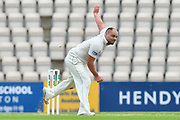 Joe Leach of Worcestershire bowling during the Specsavers County Champ Div 1 match between Hampshire County Cricket Club and Worcestershire County Cricket Club at the Ageas Bowl, Southampton, United Kingdom on 13 April 2018. Picture by Graham Hunt.