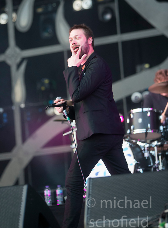 Kasabian headline the main stage on Saturday at TRNSMT music festival, Glasgow Green.