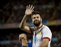 October 6, 2017 - Alicante, Spain - Pique (FC Barcelona) during the qualifying match for the World Cup Russia 2018 between Spain and Albaniaat the Jose Rico Perez stadium in Alicante, Spain on October 6, 2017. (Credit Image: © Jose Breton/NurPhoto via ZUMA Press)
