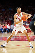 FAYETTEVILLE, AR - FEBRUARY 5:  Jalen Harris #5 of the Arkansas Razorbacks makes a pass during a game against the Vanderbilt Commodores at Bud Walton Arena on February 5, 2019 in Fayetteville, Arkansas. The Razorbacks defeated the Commodores 69-66.  (Photo by Wesley Hitt/Getty Images) *** Local Caption *** Jalen Harris