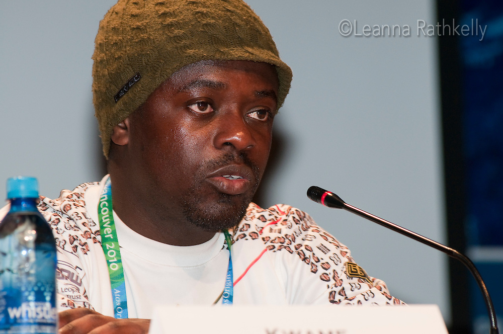 Kwame Nkrumah-Acheampong, Alpine Skiing, represents Ghana during the 2010 Olympic Winter games in Whistler, BC Canada.