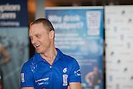 Andrew Fuller (AUS). Team PureSport Launch. 2012 Geelong Multi Sport Festival. Eastern Beach, Geelong, Victoria, Australia. 11/02/2012. Photo By Lucas Wroe