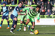 Forest Green Rovers Reuben Reid(26) runs forward during the EFL Sky Bet League 2 match between Forest Green Rovers and Crawley Town at the New Lawn, Forest Green, United Kingdom on 24 February 2018. Picture by Shane Healey.