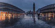 San Marco square at rainy night in Venice