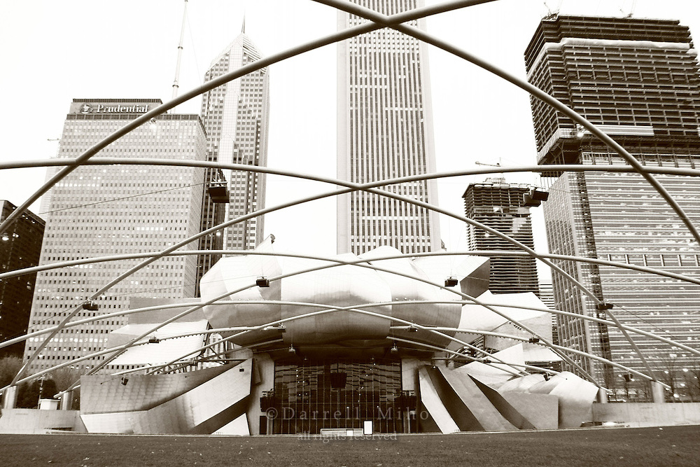 Nov. 08, 2008; Chicago, IL - The Jay Pritzker Pavilion designed by Frank Gehry...Photo credit: Darrell Miho