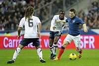 FOOTBALL - INTERNATIONAL FRIENDLY GAMES 2011/2012 - FRANCE v USA - 11/11/2011 - PHOTO JEAN MARIE HERVIO / DPPI - KEVIN GAMEIRO (FRA) / MAURICE EDU (USA)
