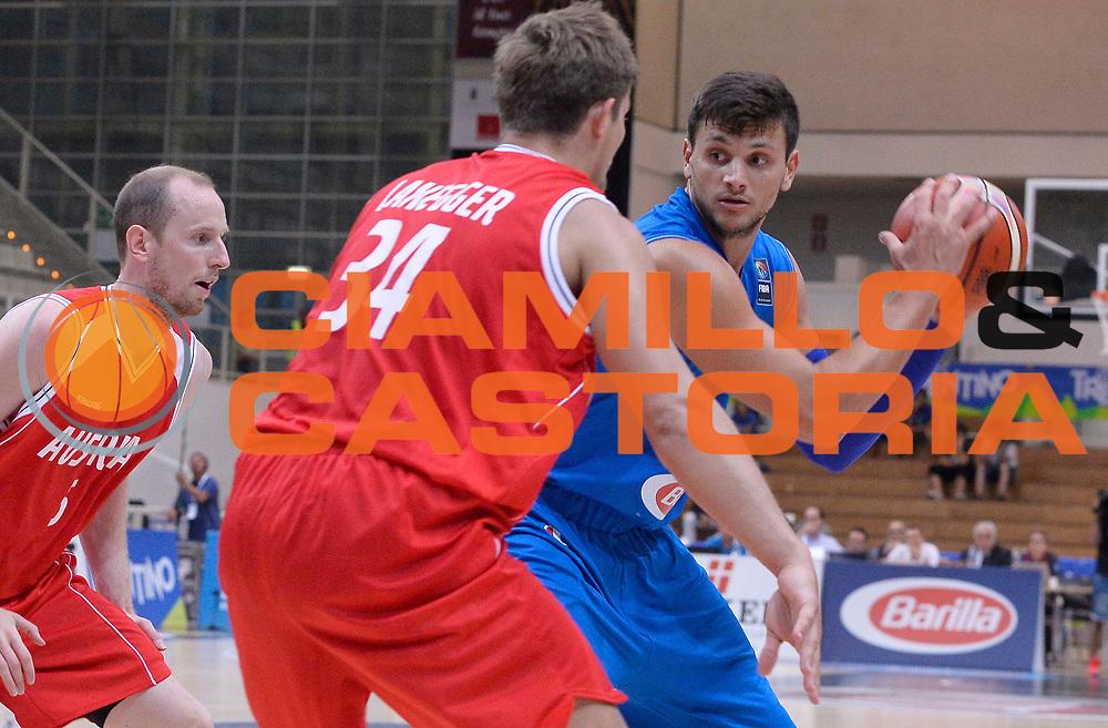 DESCRIZIONE : Trento Nazionale Italia Uomini Trentino Basket Cup Italia Austria Italy Austria <br /> GIOCATORE : Alessandro Gentile<br /> CATEGORIA : palleggio<br /> SQUADRA : Italia Italy<br /> EVENTO : Trentino Basket Cup<br /> GARA : Italia Austria Italy Austria<br /> DATA : 31/07/2015<br /> SPORT : Pallacanestro<br /> AUTORE : Agenzia Ciamillo-Castoria/R.Morgano<br /> Galleria : FIP Nazionali 2015<br /> Fotonotizia : Trento Nazionale Italia Uomini Trentino Basket Cup Italia Austria Italy Austria