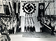 Nazi rally in the USA, 1930s.