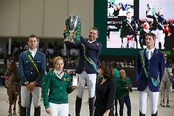 Podium TOP 10 Rolex IJRC, Farrington Kent, Delestre Simon, Deusser Daniel <br /> Final Top 10 Rolex IJRC<br /> Genève 2015<br /> © Hippo Foto - Dirk Caremans<br /> 11/12/15