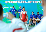 POWERLIFTING COMPETITION AT SGGW HALL AT WARSAW..SPECIAL OLYMPICS EUROPEAN SUMMER GAMES - WARSAW 2010..THE IDEA OF SEPCIAL OLYMPICS IS THAT, WITH APPROPRIATE MOTIVATION AND GUIDANCE, EACH PERSON WITH INTELLECTUAL DISABILITIES CAN TRAIN, ENJOY AND BENEFIT FROM PARTICIPATION IN INDIVIDUAL AND TEAM COMPETITIONS...WARSAW , POLAND , SEPTEMBER 22, 2010..MANDATORY CREDIT:.PHOTO BY ADAM NURKIEWICZ / MEDIASPORT