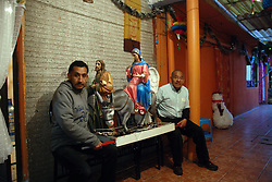 "Mexico, Federal District, Mexico City, Azcapotzalco, December 16, 2011. ""Posada"" means ""inn"" in Spanish, and on each of the nine days before Christmas, groups of devout Catholic parishioners like these will reenact Mary and Joseph's search for shelter during their Biblical journey from Nazareth to Bethlehem. Multimedia and more at www.mexicoculturalcalendar.com"