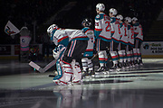 KELOWNA, CANADA - MARCH 03:  Pepsi Player of the game in the starting line up at the Kelowna Rockets game on March 03, 2018 at Prospera Place in Kelowna, British Columbia, Canada.  (Photo By Cindy Rogers/Nyasa Photography,  *** Local Caption ***