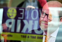 &copy; Licensed to London News Pictures. 07/06/2017<br /> Paul Nuttall in a local cafe.  <br /> UKIP Leader Paul Nuttall in Corrington,Essex this afternoon on a walkabout on the last day of the election campaign for 2017.<br /> Photo credit: Grant Falvey/LNP