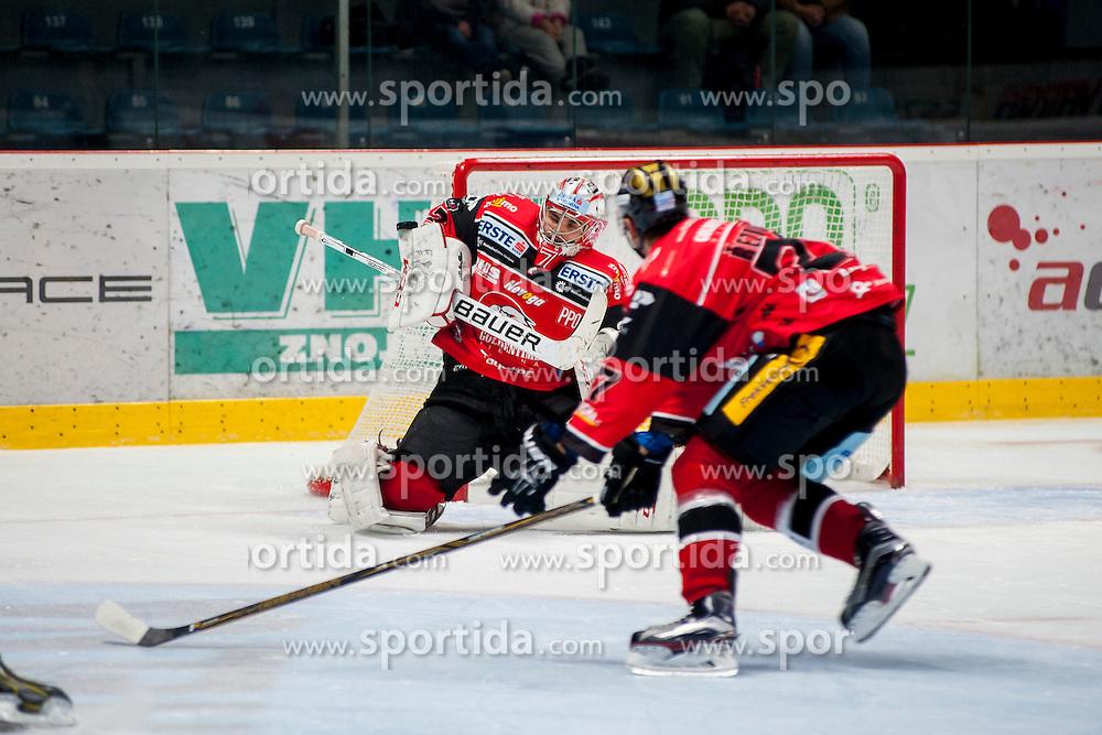 23.10.2016, Ice Rink, Znojmo, CZE, EBEL, HC Orli Znojmo vs HC TWK Innsbruck Die Haie, 13. Runde, im Bild v.l. Patrik Nechvatal (HC Orli Znojmo) Dalibor Reznicek (HC Orli Znojmo) // during the Erste Bank Icehockey League 13th round match between HC Orli Znojmo and HC TWK Innsbruck Die Haie at the Ice Rink in Znojmo, Czech Republic on 2016/10/23. EXPA Pictures © 2016, PhotoCredit: EXPA/ Rostislav Pfeffer