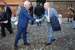 PAOLO BRUNI E PAOLO CALVANO<br /> MINISTRO TERESA BELLANOVA IN PREFETTURA A FERRARA