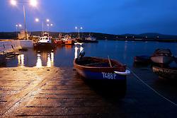 IRELAND KERRY IVERAGH PENINSULA 4NOV05 - Evening scene at Portmagee with fishing boats moored on the Iveragh Peninsula in county Kerry, Irelands most westerly county...jre/Photo by Jiri Rezac..© Jiri Rezac 2005..Contact: +44 (0) 7050 110 417.Mobile: +44 (0) 7801 337 683.Office: +44 (0) 20 8968 9635..Email: jiri@jirirezac.com.Web: www.jirirezac.com..© All images Jiri Rezac 2005 - All rights reserved.