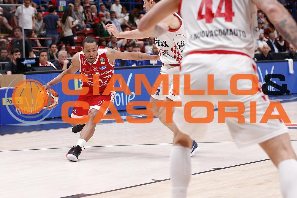 Goudelock Andrew<br /> EA7 Olimpia Milano - The Flexx Pistoia<br /> Legabasket Serie A 2017/18<br /> Milano, 06/05/2018<br /> Foto MarcoBrondi / Ciamillo-Castoria
