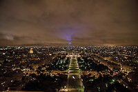 Esplanade des Invalides, Hotel des Invalides and Tour Montparnasse, from the Eiffel Tower.