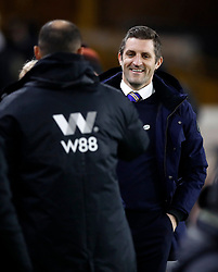 Shrewsbury Town manager Sam Ricketts shakes hands with Wolverhampton Wanderers manager Nuno Espirito Santo during the FA Cup fourth round replay match at Molineux, Wolverhampton.