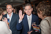 JOSH ANDREWS; ANTHONY ANDREWS, The press night performance of the Menier Chocolate Factory's 'Merrily We Roll Along', following its transfer to the Harold Pinter Theatre, After-show party at Grace Restaurant, Gt. Windmill St. London. 1 May 2013.