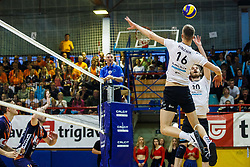 Brulec Jan of Calcit Volley during volleyball match between Calcit Volley and ACH Volley in Final of 1. DOL Slovenian Man national Championship 2016/17 on 24th of April, 2017 in Kamnik, Slovenija.  Photo by Grega Valancic / Sportida