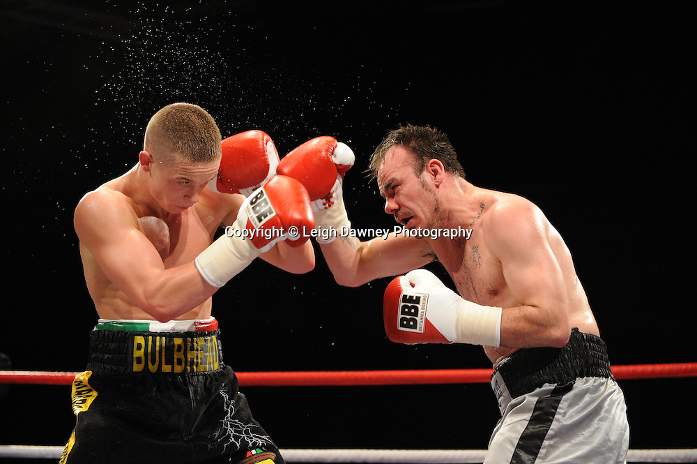 Karl Place (black shorts) defeats Danny Dontchev at Brentwood Centre, Brentwood, Essex on the 5th February 2011. Frank Maloney Promotions. Photo credit © Leigh Dawney