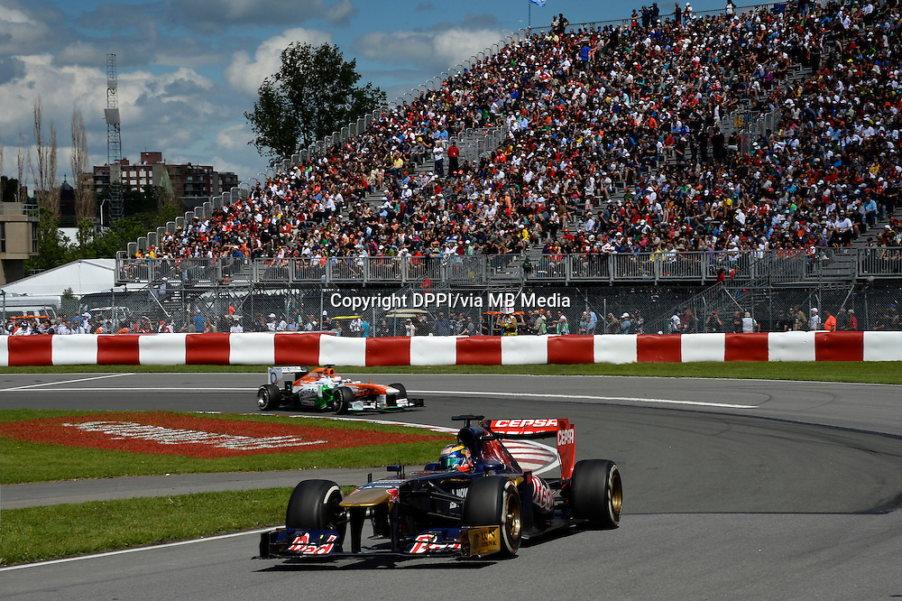 MOTORSPORT - F1 2013 - GRAND PRIX OF CANADA - MONTREAL (CAN) - 07 TO 09/06/2013 - PHOTO ERIC VARGIOLU / DPPI VERGNE JEAN-ERIC (FRA) - TORO ROSSO STR8 FERRARI - ACTION<br /> SUTIL ADRIAN (GER) - FORCE INDIA VJM06 - AMBIANCE PORTRAIT