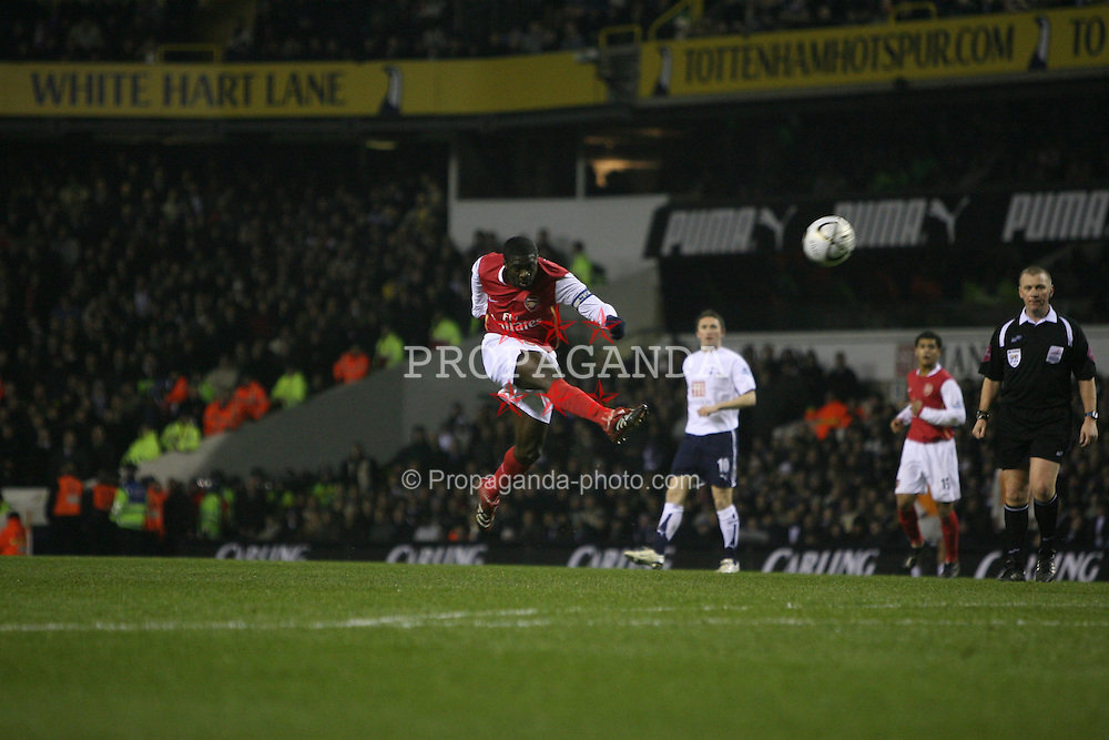 London, England - Wednesday, January 24, 2007: Arsenal's Kolo Toure against Tottenham Hotspur during the League Cup Semi-Final 1st Leg at White Hart Lane. (Pic by Chris Ratcliffe/Propaganda)