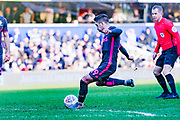 Leeds United midfielder Pablo Hernandez (19) takes a shot during the EFL Sky Bet Championship match between Queens Park Rangers and Leeds United at the Kiyan Prince Foundation Stadium, London, England on 18 January 2020.