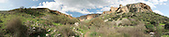 Panorama of Amud Stream in Israel