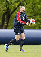 Picture by Andrew Tobin/Tobinators Ltd +44 7710 761829.24/05/2013.David Paice of England during the England training session at Pennyhill Park, Bagshot ahead of the match against the Barbarians on 26th May 2013.