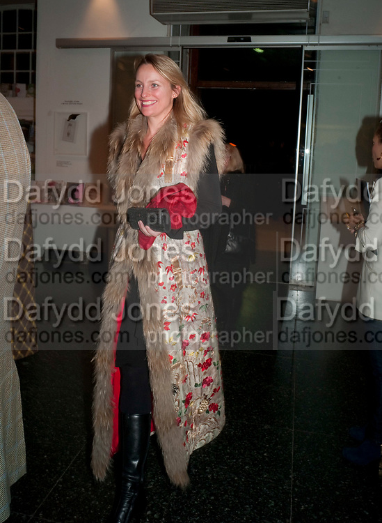 LILY BARCLAY, Vanity Fair  hosted  UK Premiere and party for Beyond Time. A film about the artist William Turnbull made by his son Alex Turnbull. Narrated by Jude Law. I.C.A. London. 17 November 2011<br /> <br />  , -DO NOT ARCHIVE-© Copyright Photograph by Dafydd Jones. 248 Clapham Rd. London SW9 0PZ. Tel 0207 820 0771. www.dafjones.com.