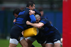 November 20, 2018 - Rome, Italy - Rugby Italy training - Cattolica Test Match.Alessandro Zanni and Johan Meyer at Giulio Onesti Sport Center in Rome, Italy on November 20, 2018. (Credit Image: © Matteo Ciambelli/NurPhoto via ZUMA Press)