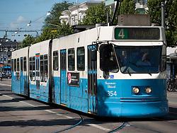 View of tram on streets of Gothenburg in Sweden Scandinavia