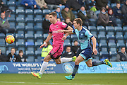 Hartlepool United Midfielder, Nicky Deverdics (17) takes on Wycombe Wanderers Midfielder, Dominic Gape (25) during the EFL Sky Bet League 2 match between Wycombe Wanderers and Hartlepool United at Adams Park, High Wycombe, England on 26 November 2016. Photo by Adam Rivers.