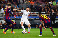 Javier PASTORE / Gerard PIQUE / Dani ALVES - 21.04.2015 - Barcelone / Paris Saint Germain - 1/4Finale Retour Champions League<br />