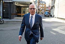 © Licensed to London News Pictures. 04/03/2016. London, UK.  Rupert Murdoch arrives at Spencer house in central London ahead of his wedding to Jerry Hall on February 04, 2016. The couple, who announced their engagement in January, had a private ceremony today, with a public service expected at Fleet Street's St Bride's Church on Saturday. Photo credit: Ben Cawthra/LNP