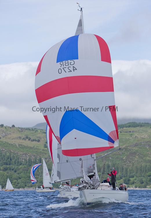 Silvers Marine Scottish Series 2017<br /> Tarbert Loch Fyne - Sailing Day 3<br /> <br /> GBR4270, Sigmatic, Donald &amp; Anita Mclaren, Helensburgh SC