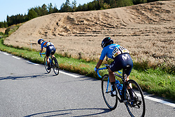 Paula Patino Bedoya (COL) chases back to the bunch after a large crash during Ladies Tour of Norway 2019 - Stage 3, a 125 km road race from Moss to Halden, Norway on August 24, 2019. Photo by Sean Robinson/velofocus.com