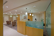 Interior Design Photographer of Washington DC Image of reception area at downtown offices of Ain and Bank Law Firm by Jeffrey Sauers of Commercial Photographics