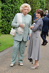 Left to right, KIRSTEN RAUSING and EIMEAR MULHERN cchairman of Goffs at Goffs London Sale held at The Orangery, Kensington Palace, London on 15th June 2015.