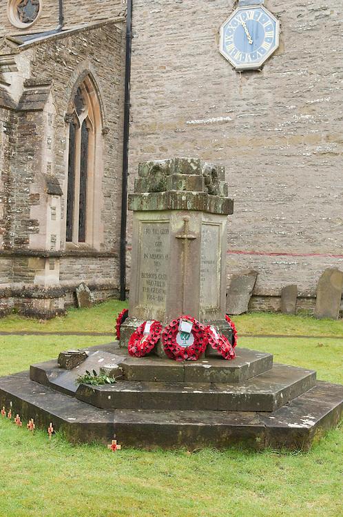 War Menorial Bishops Castle Shropshire