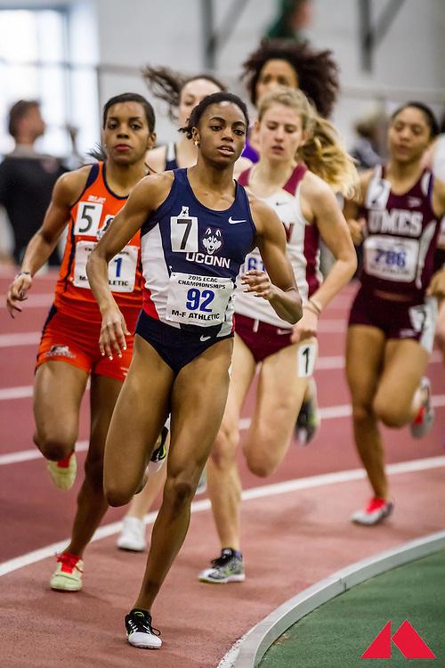 ECAC Indoor Champs, womens 800 heats,Dismuke, Faith            SR Connecticut