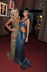 Left to right, MOLLIE KING and FRANKIE SANDFORD at a party hosted by Roberto Cavalli to celebrate his new Boutique's opening at 22 Sloane Street, London followed by a party at Battersea Power Station, London SW8 on 17th September 2011.