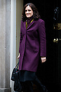 UNITED KINGDOM, London: 1 March 2016. Northern Ireland Secretary Theresa Villiers leaves Downing Street after attending Cabinet meeting in central London.  Pic by Andrew Cowie / Story Picture Agency